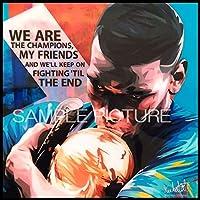 ポール・ポグバ フランス代表 海外サッカーグラフィックアートパネル 木製 壁掛け インテリア ポスター (26*26cm アートパネルのみ)