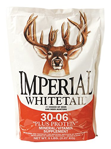 Whitetail Institute 30-06 Mineral and Vitamin Supplement for Deer Food Plots, Provides Antler-Building Nutrition and Attracts Deer, Plus Protein, 5 lbs