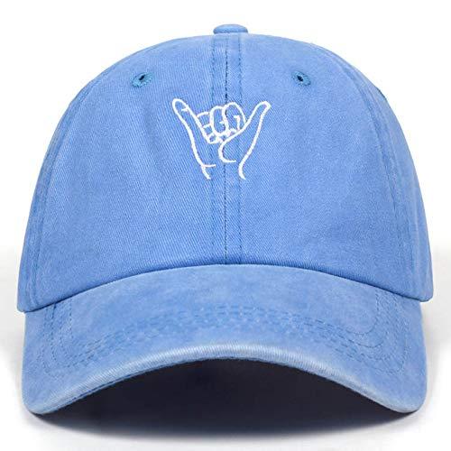 CXKNP Baseball Cap Neue Finger Stickerei Kappe Outdoor Freizeit Gewaschen Baseball Caps Einstellbare Hip Hop Hut Baumwolle Frauen Mann Hüte