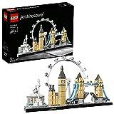 LEGO Architecture Londra, Set di Costruzioni Collezione Skyline con London Eye, Big Ben, Tower Bridge, Idea Regalo Collezionabile, 21034