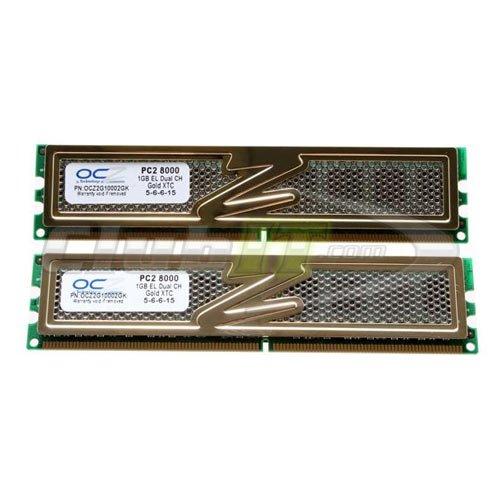 OCZ Gold DDR2 PC2-8000 Arbeitsspeicher 2GB Kit (2X 1GB, 1000MHz, CL5)