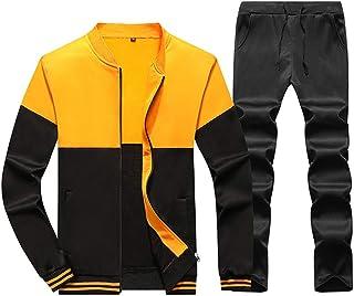 Men's Sports Tracksuit Sweatsuit Casual Sweatpants Full-Zip Running Jogging Set