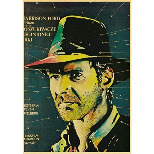 Vintage Klassiker Indiana Jones Poster Und Drucke Wandkunst Leinwand Malerei Wandbilder Für Wohnzimmer Home Decor 50X70Cm No Frame
