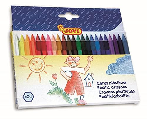 Jovi Plastic Hexagonal Crayons; Set of 24