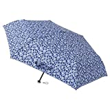 [ムーンバット] urawaza(ウラワザ) 折りたたみ傘 幾何学柄 ネイビーブルー 52㎝【3秒で折りたためる傘】