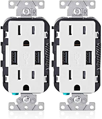 Leviton T5632-W 15-Amp Charger/Tamper Resistant...