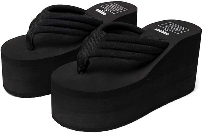 T-JULY Woman Flip Flops Slippers Chunky Sole Wedges Heels Summer Tongs Beach Sandals Ladies shoes