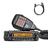 AnyTone AT-5888UV Mobile Transceiver Dual Band VHF UHF 50W/40W Vehicle Radio with Programming Cable