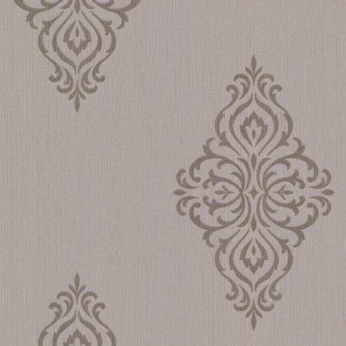 Bhf 495–69024Powell medaglione carta da parati damascata, colore: Nero, 495-69028