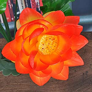 yijiang New Artificial Flowers Artificial Lotus Flowers Silk Floral Fake Arrangement Lotus Bouquets Home Party