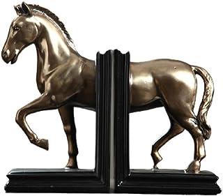 Bookends الحصان الدفيل تمثال ديكور الحيوان كتاب الجرف الثقيلة كتاب كتاب للرفوف، ودعم الكتاب، كتاب سدادة مجموعة للكتب Book ...