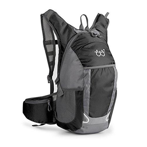 TXJ 30L Sac à Dos d'hydratation, Ultraléger Imperméable Sac à Dos de randonnée pour Alpinisme Escalade Cycliste Vélo VTT Trekking Sport Voyage Camping Fitness Sac Étanche (Noir, 30L)