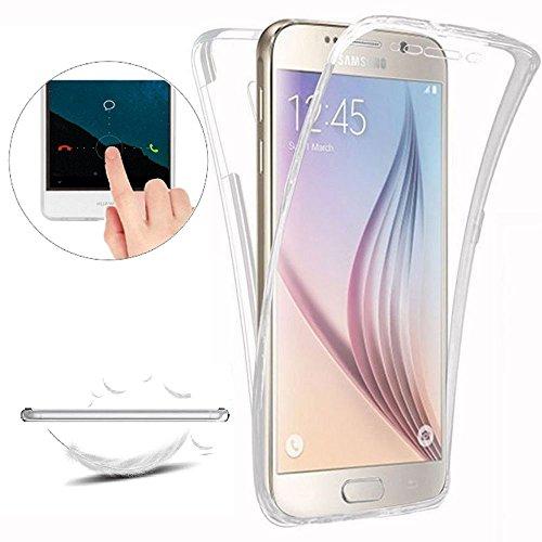 Funda para Samsung Galaxy S6 Edge Plus [Nueva Versión] [Cover 360 Grados], Doble Delantera + Trasera Gel Transparente Silicona Integral Shock Absorción Anti Rasguños Choque Bumper Protectora Carcasas