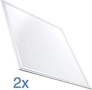 (LA) Pack 2x Panel LED Slim 60x60 cm. 40W. 3200 Lumenes Reales. Color blanco Neutro (4500K). Driver incluido.