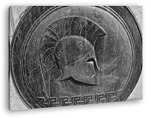 deyoli Altes Romana Bronce Relief Gladiator Efecto: Negro/Blanco como Lienzo, diseño Enmarcado en Marco de Madera, impresión Digital Marco, no es un póster o Cartel, Lona, 80x60
