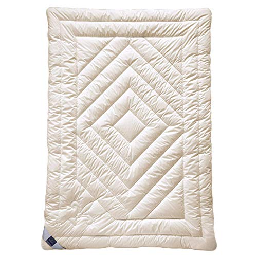billerbeck Cashmere Bettdecke Contessa 135 x 200 cm, Wärmestufe mittel, anschmiegsame und klimatisierende Natur Bettdecke