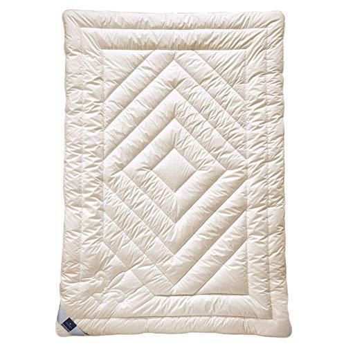 billerbeck Cashmere Bettdecke Contessa 135 x 200 cm, Wärmestufe extra Warm, anschmiegsame und klimatisierende Natur Bettdecke