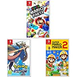 Super Mario Maker 2 + Super Mario Party + Pokémon Espada (Nintendo Switch)