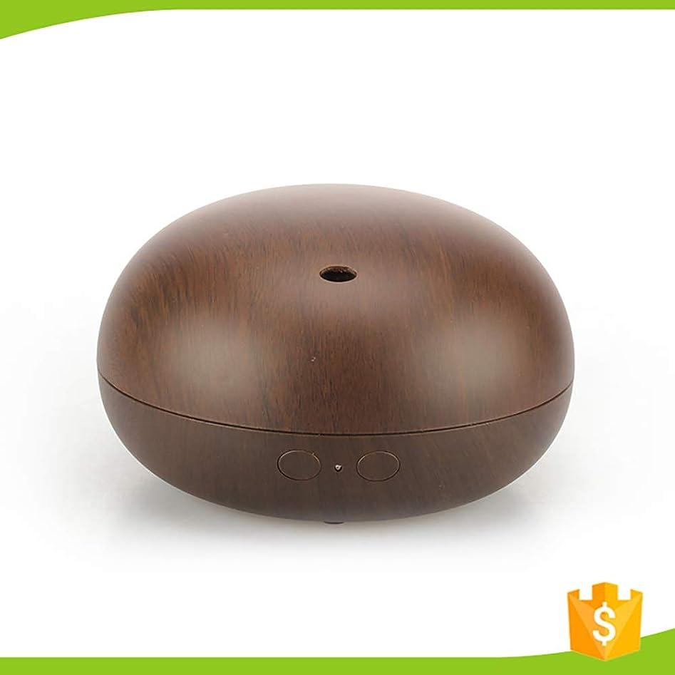 ジャニス効能ティッシュアロマディフューザー、クールミストエッセンシャルオイルディフューザー、静かなデザインで安全Sleepandウッドグレインデザイン、ウォーターレスオートシャットオフ,brown