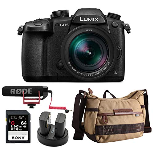 Panasonic LUMIX GH5 4K Mirrorless Camera with Leica DG 12-60mm Lens and Accessory Bundle