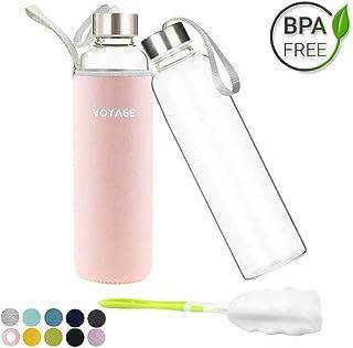Voarge Botella de Agua Cristal 550ml, Botella de Agua