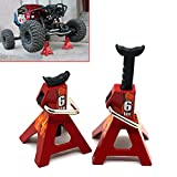 2pcs RC Car Scale Jack Stands for Axial SCX10 Wraith TRX4 D90 CC01 RC Truck Crawlers