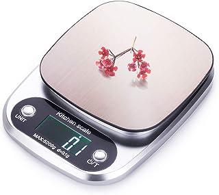 FUUMIY Báscula digital de cocina profesional, con pantalla LCD y gran precisión, 0,1 g/máx. 5 kg, con función de gramo de ...