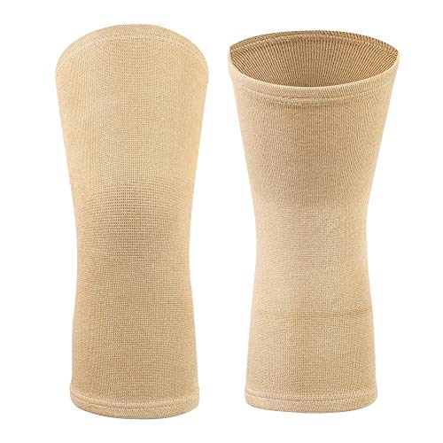 Zer one EIN Paar Sommer Knie Kompressionshülsen, Gelenkschmerzen & Arthritis-Erleichterung Leichte Knieorthese für das Gymnastik-Laufen, Radfahren, Gehen(L-Hauptfarbe)