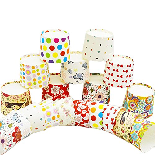 Ancdream 100pcs Greaseproof Paper Baking Cups, Colorful Cupcake Liners,Cupcake Holders Containers
