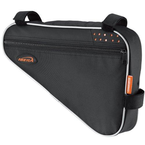 Ibera Fahrrad-Rahmentasche, Fahrradtasche Triangle Bag, Bicycle Triangle Frame Bag Medium schwarz / orange