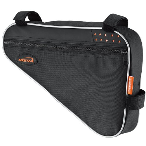 Ibera Fahrrad-Rahmentasche, Fahrradtasche Triangle Bag, Bicycle Triangle Frame Bag  Medium schwarz / orange