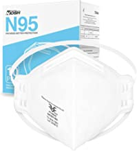 NIOSH Approved N95 Mask Particulate Respirator - Pack of 10 Face Masks - Universal Fit