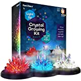 Crystal Growing Kit for Kids + LIGHT-UP Stand - Science Experiments for Kids - Crystal Science Kits...