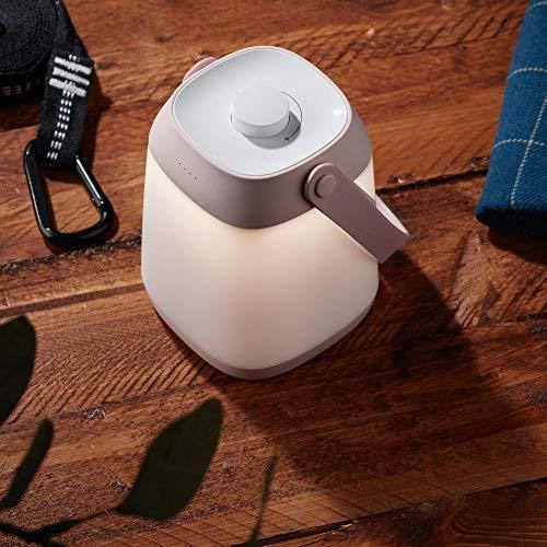LED Akku Tischlampe stufenlos dimmbar mit Ladestation, warmweiß, Rosa | LED Lampe batteriebetrieben aufladbar 2700K | Tischleuchte dimmbar Tischlampe batteriebetrieben