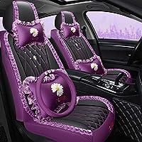 ✿ Design de mode: Housse de siège de voiture en cuir de luxe avec grille de diamant élégante, il s'agit d'une création incroyable, elle peut mettre en valeur votre style personnel et rendre l'intérieur de votre voiture accrocheur, montrant votre goût...
