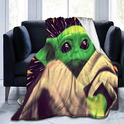 Hongfeimaoyi Ba_By Poster Yo_Da - Manta de microfibra ultrasuave para sofá o cama, manta cálida para adultos o niños