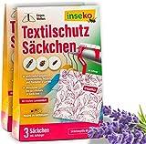 Inseko - Saquitos de protección textil con aroma fresco de lavanda, protección contra polillas para armario, trampa para polillas (6)
