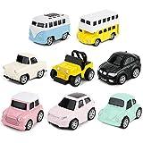 8 Pcs Jouets Voitures Miniatures à Friction Camion Pull Back véhicules Ensemble Metal Construction Cadeau IDÉAL pour Enfant 3 ans et Plus