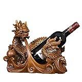 Estante Para Vino Estante Para Vino De Animales Una Botella De Vino Soporte Para Soporte De Almacenamiento Decoración De Mesa De Encimera Independiente (Color: Marrón, Tamaño: Talla Única) Estante De