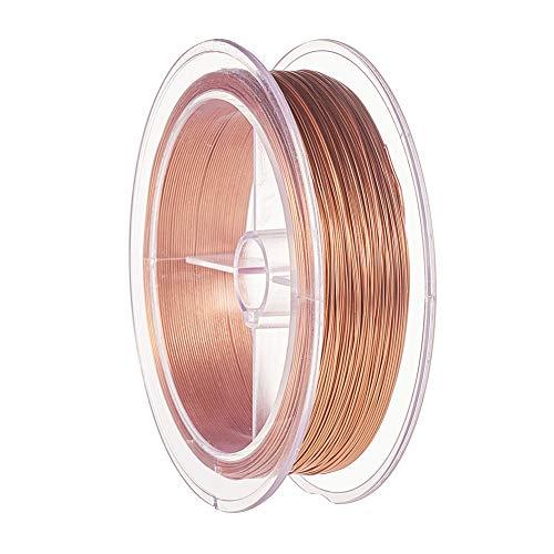 BENECREAT 60m 0.5mm Alambre de Cobre Cable Metálico Alambre de Bisutería para Diseño de Joya Manualidad de Artesanía Color de Cobre
