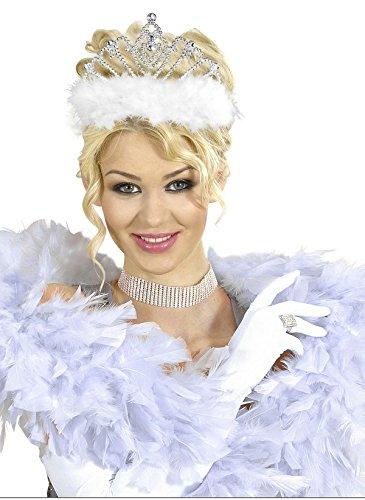 Widmann Generique - Diadème Princesse avec Fourrure Blanche