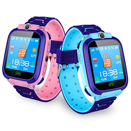 Oberlo Smart Waterproof Watch Anti-Lost Kid Wristwatch (Blue/United States)