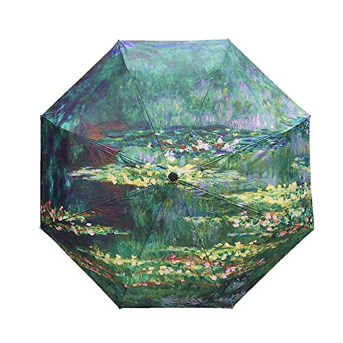 Faltbarer Regenschirm Monet, beeindruckendes Motiv Nympheas Etang, farbenfroh und langlebig, Trend-Geschenkidee 2018