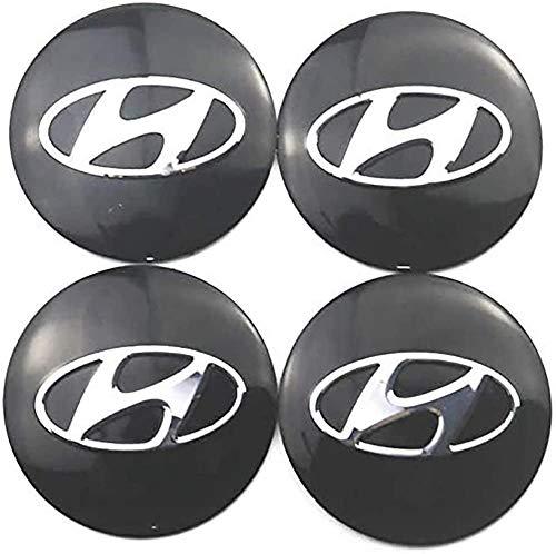 HAZYLA 4 Piezas 56.5mm Car Tapas Centrales Llantas para Hyundai Solaris ix35...