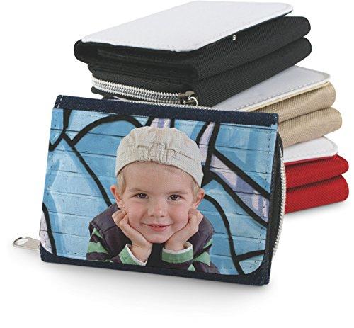 Sticker Design Shop Textiel portemonnee portemonnee individueel bedrukt wensnaam foto motief tekst
