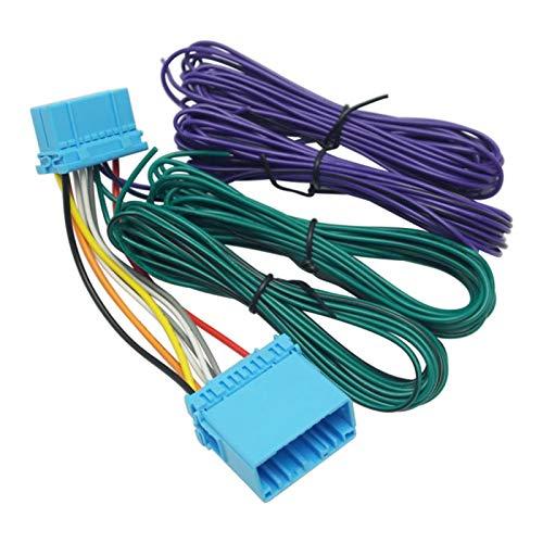 Feeldo Autoradio fils Harnais adaptateur radio stéréo connecteur mâle vers femelle Connecteur avec RL/RR enceinte extension wire