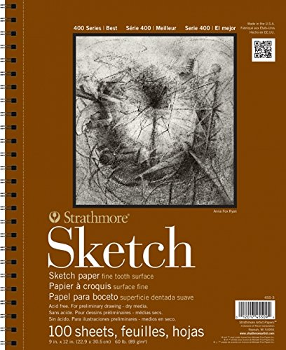 Strathmore 455-4 400 Series Sketch Pad, 11'x14' Wire Bound, 100 Sheets