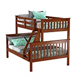 Donco Kids 122-3-Tfe Mission Bunk Bed, Twin/Full, Light Espresso