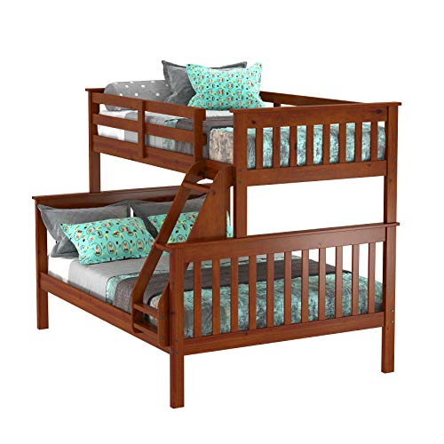 donco kids bunk beds Donco Kids 122-3-Tfe Mission Bunk Bed, Twin/Full, Light Espresso
