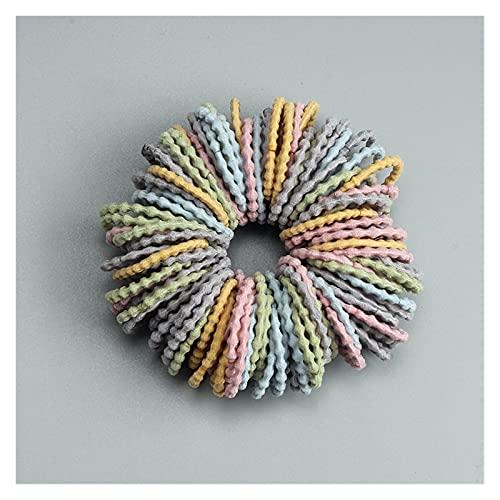 Shengmo, 100 pezzi 3 cm accessori per capelli per ragazze elastici in nylon per capelli, fascia per capelli per bambini, coda di cavallo, fascia per capelli alla moda (colore: Style-P)